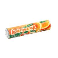 Конфета «Аскорбиночка со вкусом апельсина», скрутка 14 конфет по 2,7 г.
